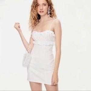 For Love And Lemons White Denim Mini Dress M